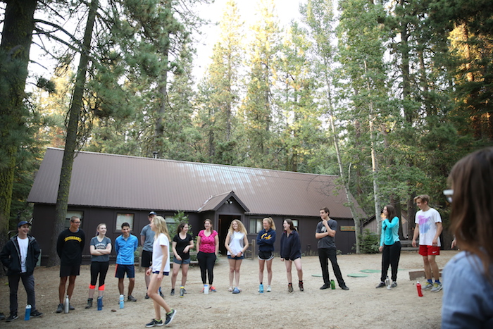 Students at the Crane Flat campus in Yosemite