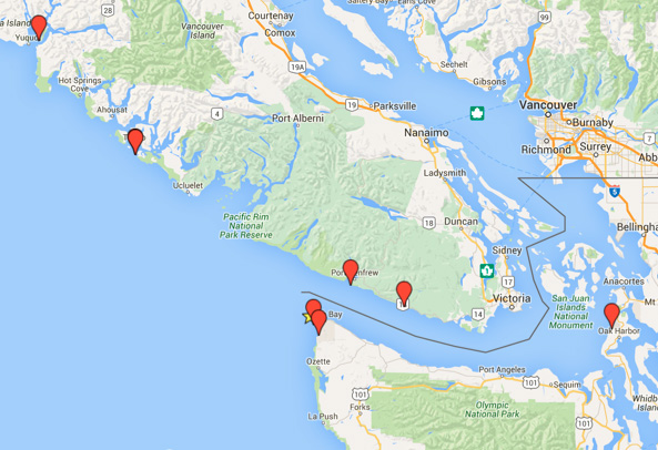 Map of Cape Flattery 2015