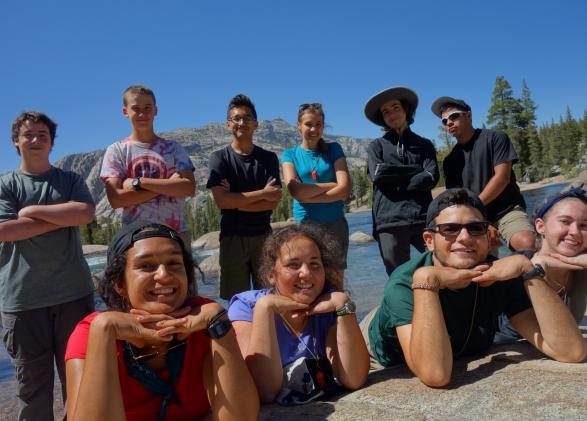 Students in Yosemite during NatureBridge Summer Backpacking program