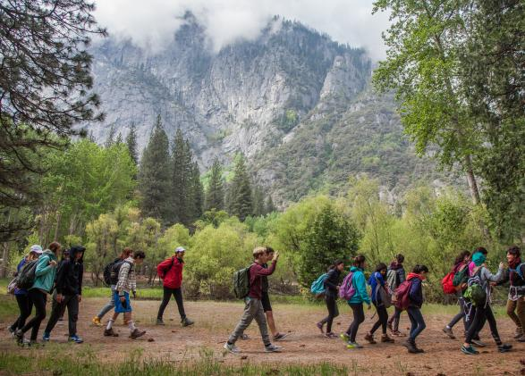 Students in Yosemite