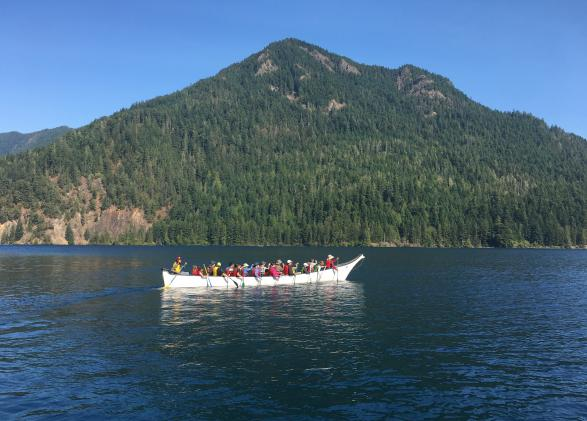 NatureBridge Olympic Family Program, Canoeing on Lake Crescent