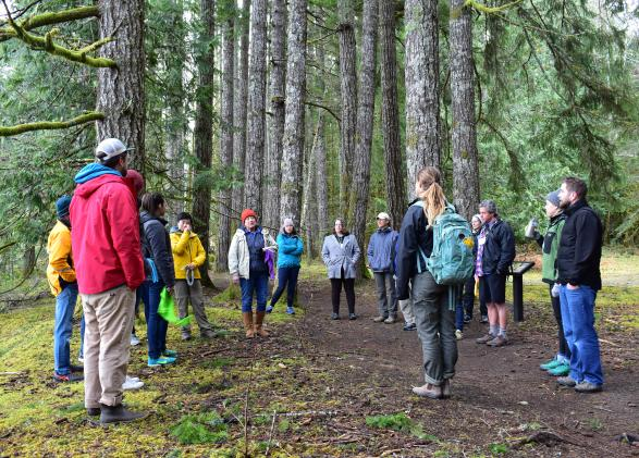 Teachers participate in a professional development working at NatureBridge's Olympic campus