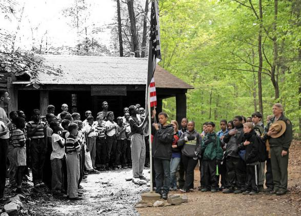 Prince William Forest Park Cabin Camp 1 then and now