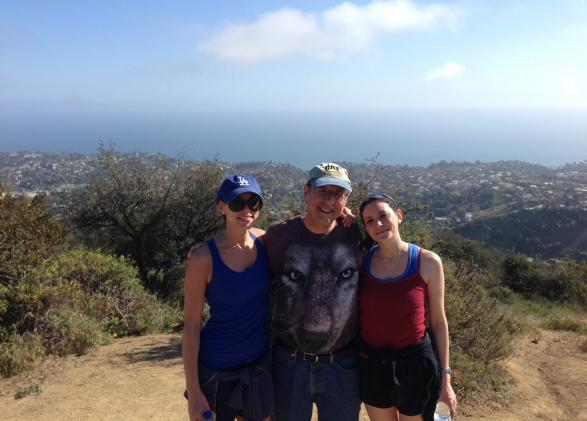 Rachael Klein, new Southern California board member, on a hike with her family.