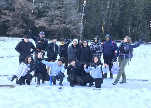Alliance Burton students enjoying the snow in Yosemite