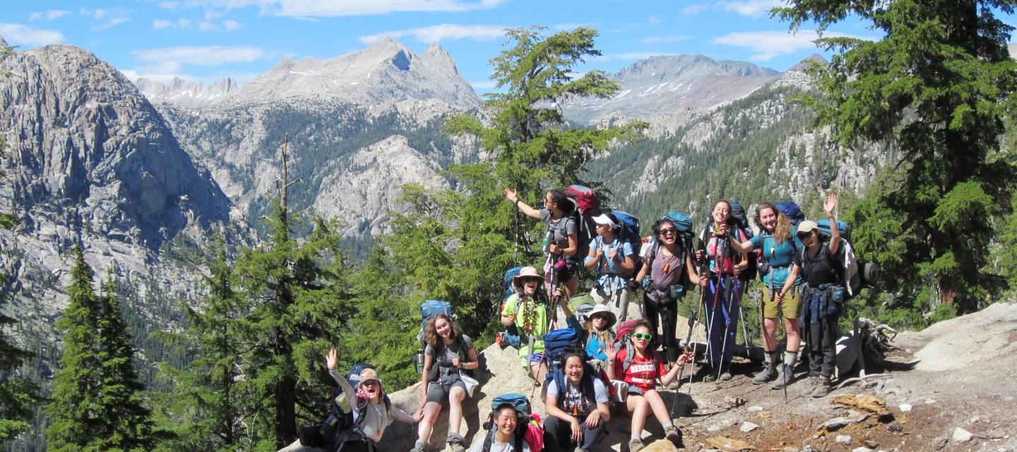 Backpackers in Yosemite National Park