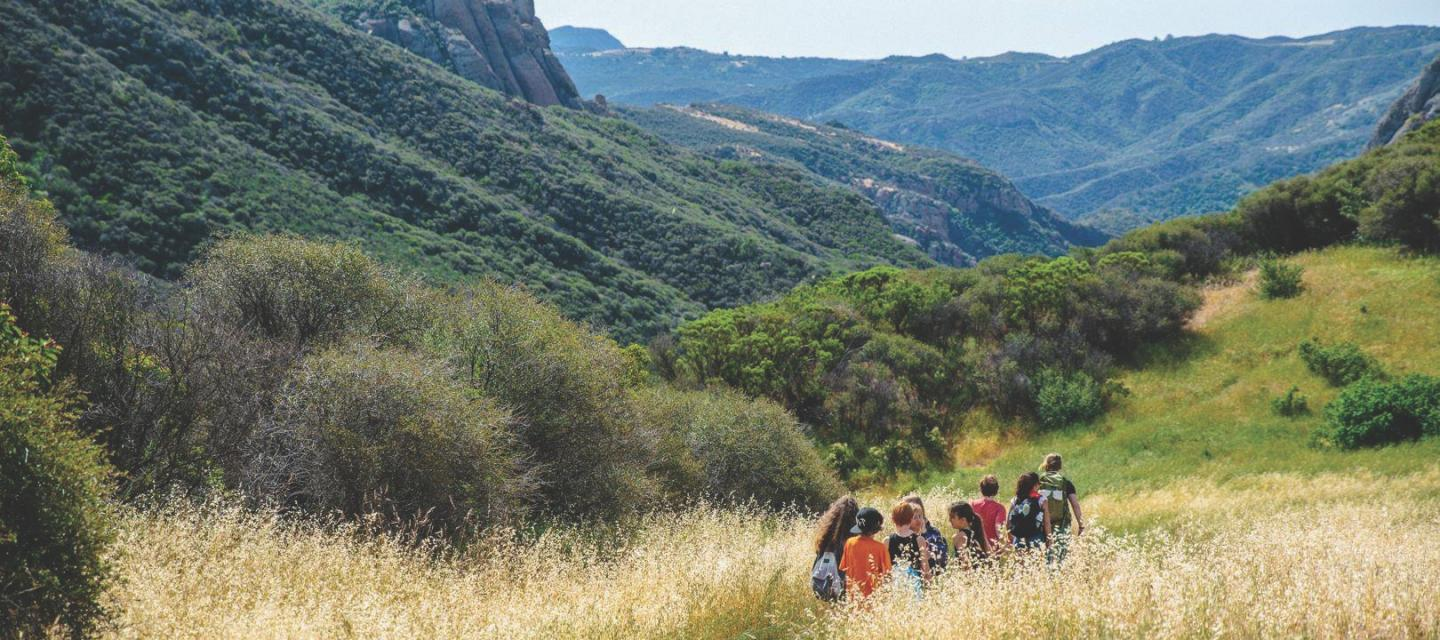 students in the Santa Monica Mountains