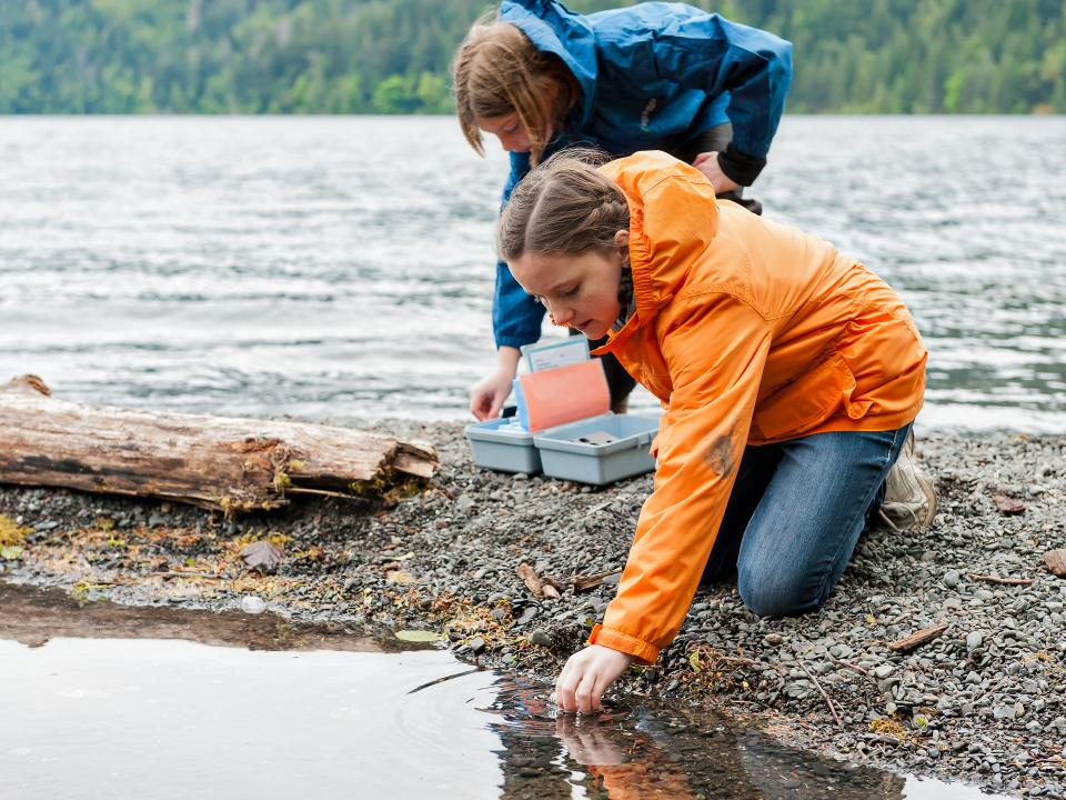 Students investigate the health of the watershed in Olympic National park