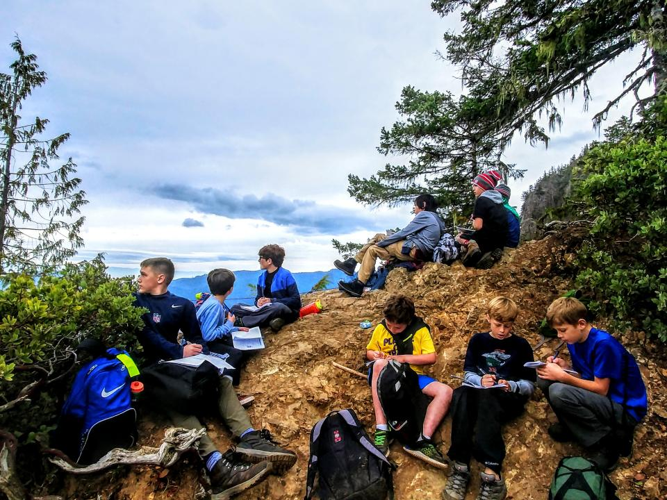 Students journal and reflect on their NatureBridge program