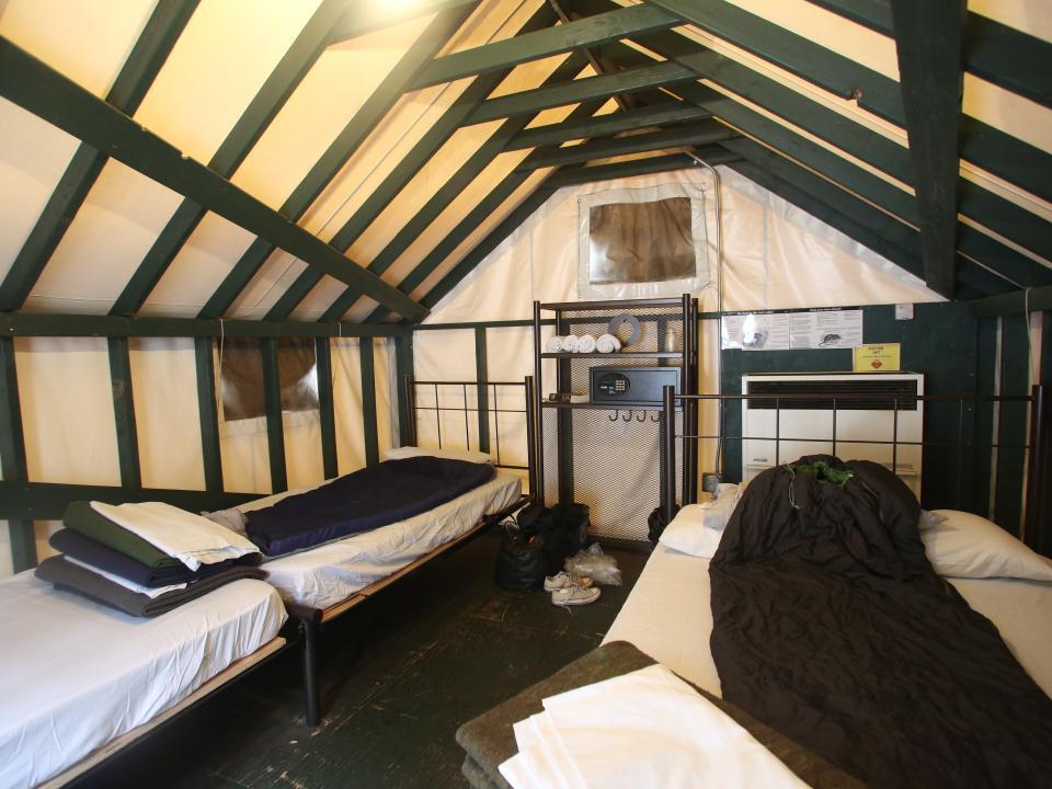 Inside the tent cabins at Half Dome Village & School u0026 Group Environmental Science   NatureBridge