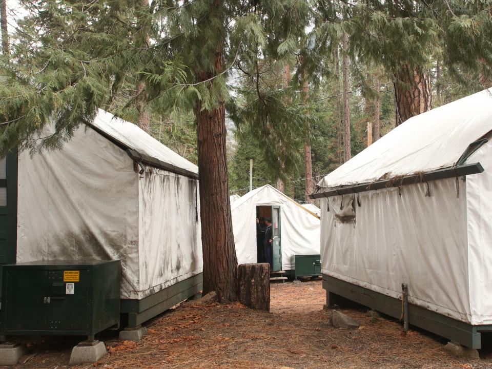 Tent cabins in Half Dome Village