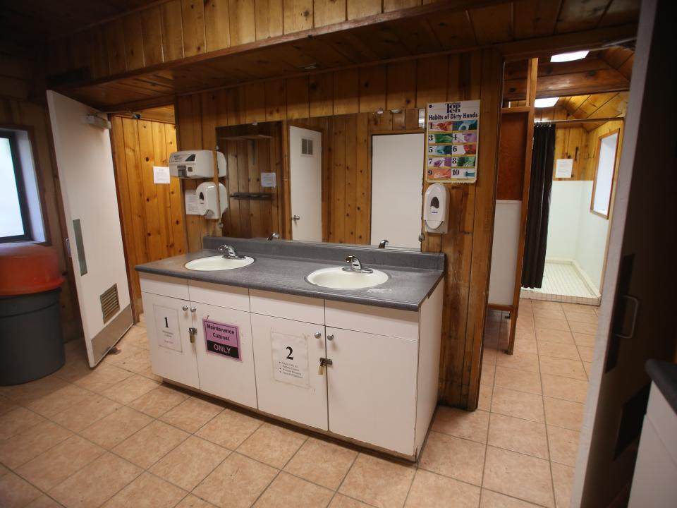 Bathroom facilities at Crane Flat