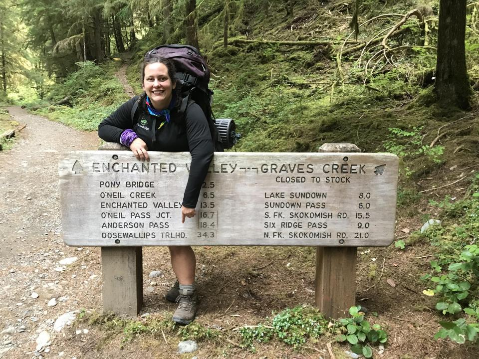 Sonia in Olympic National Park