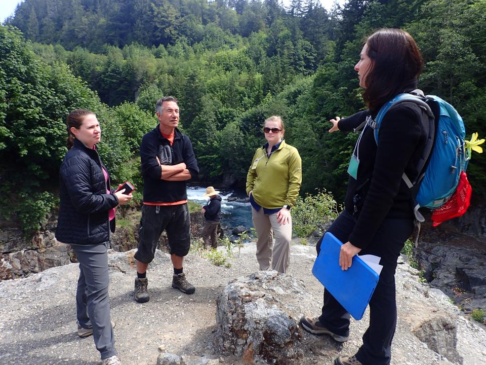 Teachers overlooking the Elwha River