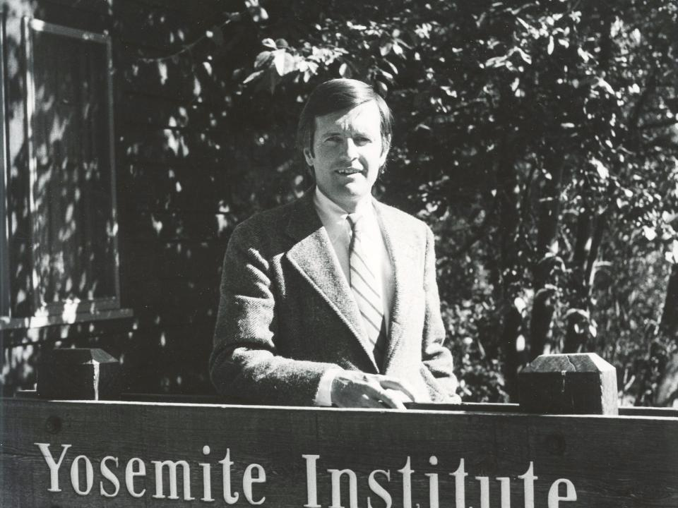 Don Rees, the founding Executive Director of NatureBridge, then known as Yosemite Institute.