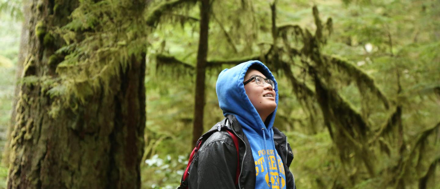Student in Olympic National Park