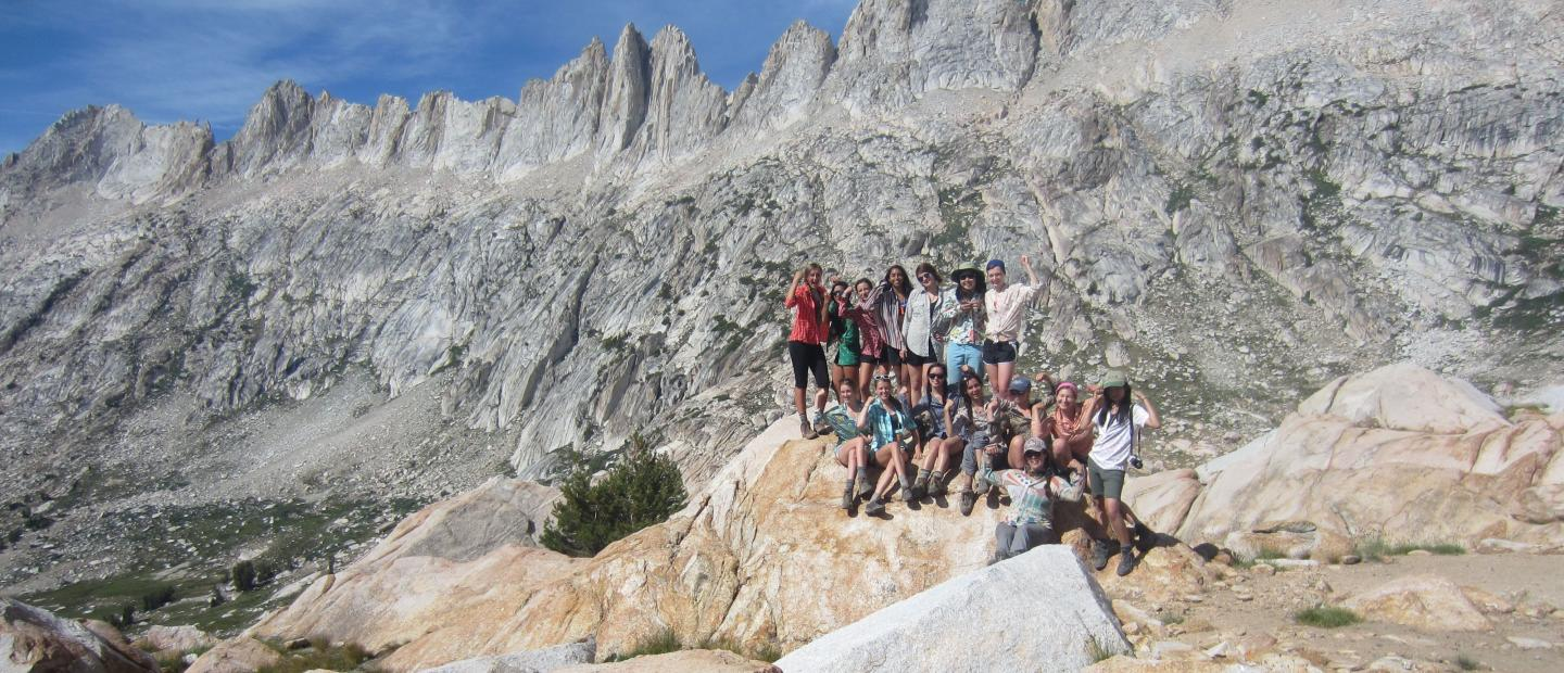 The Armstrong Scholars at the top of Burro Pass in Yosemite