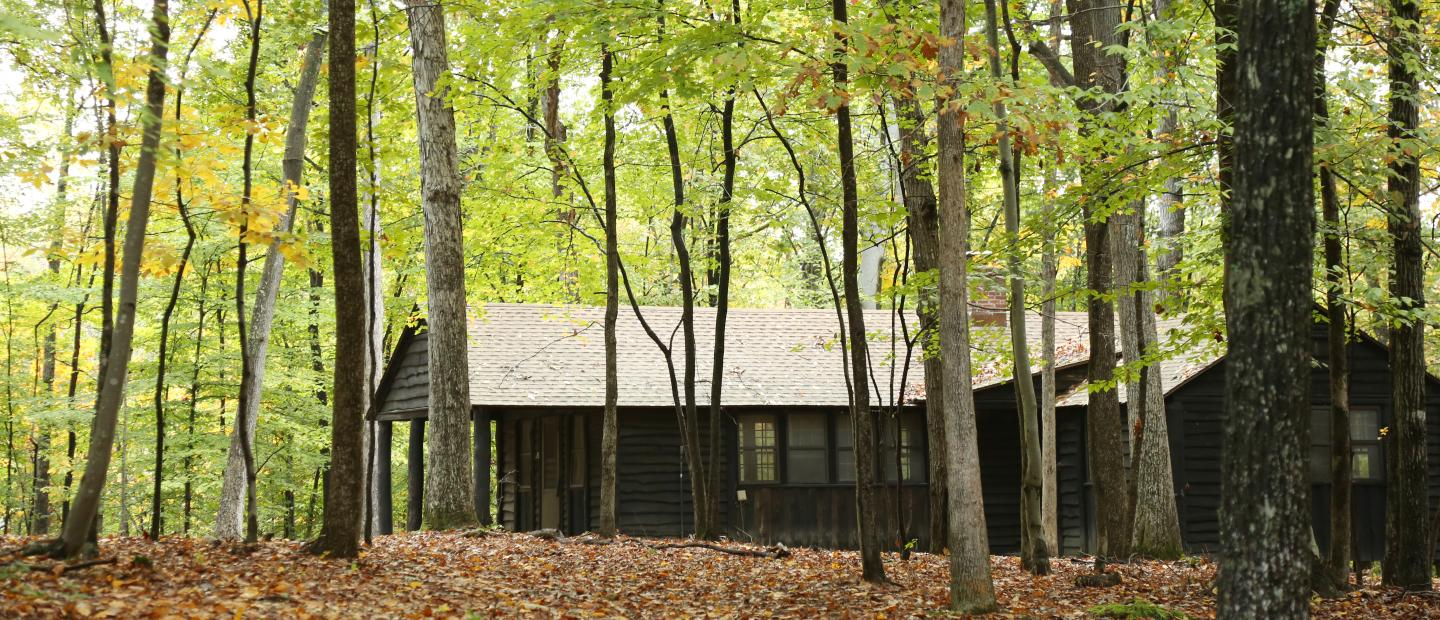 A cabin in Prince William Forest.
