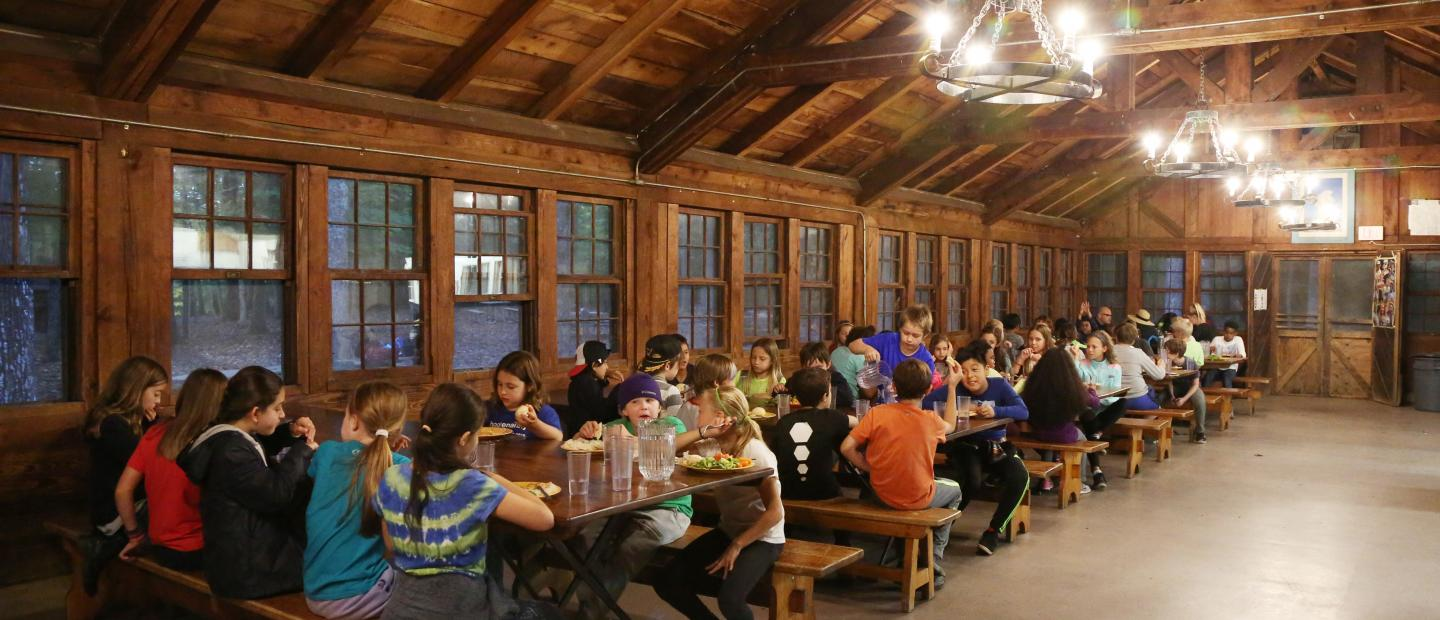 dining hall at cabin camp 1 at Prince William Forest Park