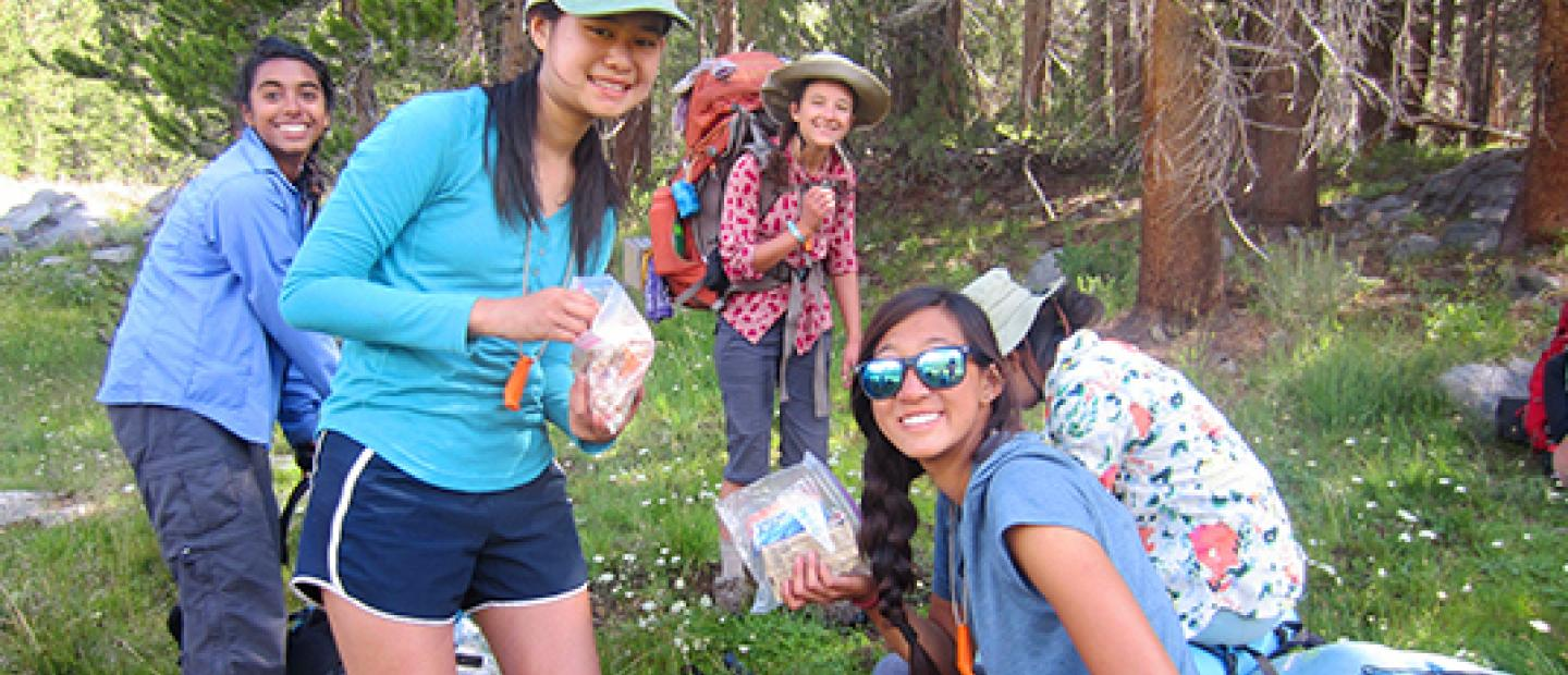 backpacking with the Armstrong Scholars